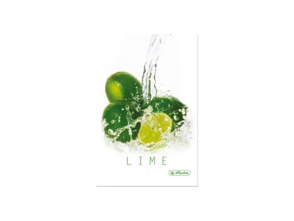 Záznamní kniha Herlitz  A5  čtvereček Fresh Fruit Limetky