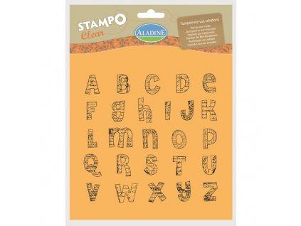 StampoClear, abeceda velká, manuscript