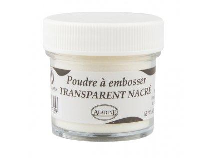 Embosovací prášek, 30 ml, průhledný perleťový