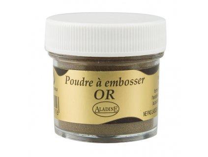 Embosovací prášek, 30 ml, zlatý