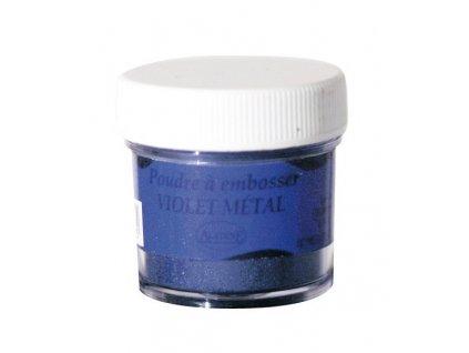 Embosovací prášek, 30 ml, fialový metalický