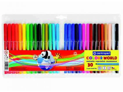 Dětské fixy Centropen Colour World 7550 sada 30 ks