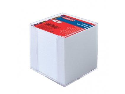 Poznámkový špalíček v průhledné krabičce