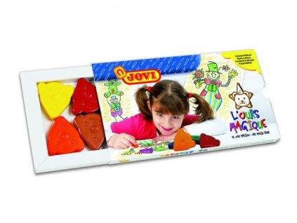Jovi voskovky MEDVÍDEK, trojúhelníkové 10ks, 10 barev, základní