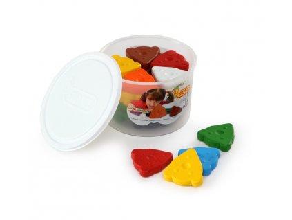 Jovi voskovky MEDVÍDEK, trojúhelníkové 30ks, 10 barev, základní, v kelímku