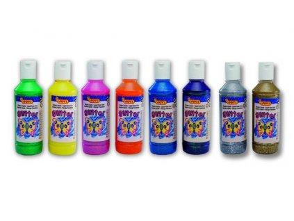 temperová barva glittrová 250 ml v lahvi výběr barev