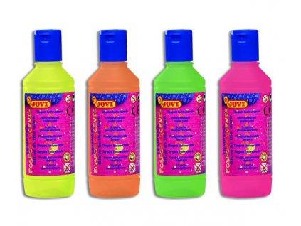 temperová barva neónová 250ml  v lahvi  - výběr barev