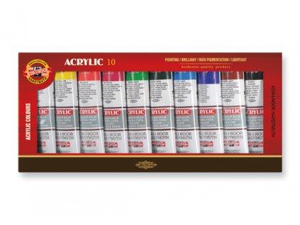Sada 10 akrylových barev 162704/10 - 40 ml