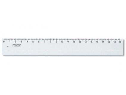 Pravítko čiré 742551- 20 cm