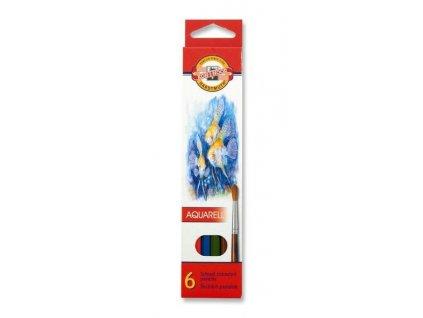 Pastelky 3715 akvarelové RYBY - 6  barev