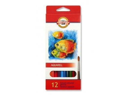 Pastelky 3716  akvarelové RYBY - 12 barev
