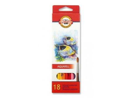 Pastelky 3717 akvarelové RYBY - 18 barev