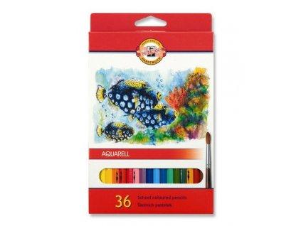 Pastelky 3719 akvarelové RYBY - 36 barev