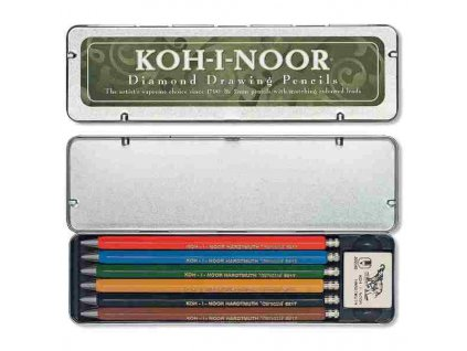 Verzatilky Koh-i-noor kovové 5217, sada 6 kusů a pryž