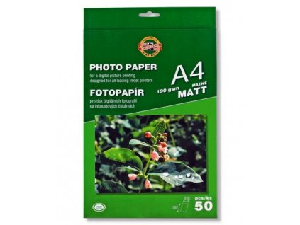 Fotopapír 9757/MATNÝ 190g A4