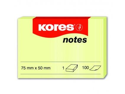 Samolepicí bločky žluté 75x50 / 100 lístků v bločku