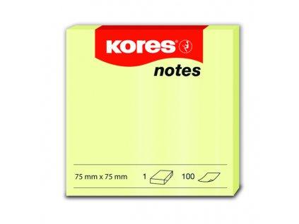 Samolepicí bločky žluté 75x75 / 100 lístků v bločku