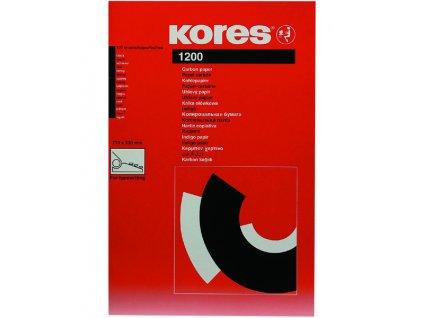 Kopírovací papír Kores A4  21 x 31 cm / černý uhlový / 20 listů