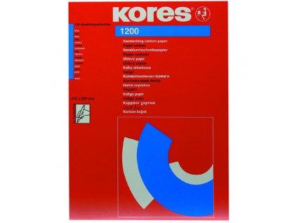 Kopírovací papír Kores A4 21 x 29,7 cm / modrý propisovací / 20 listů
