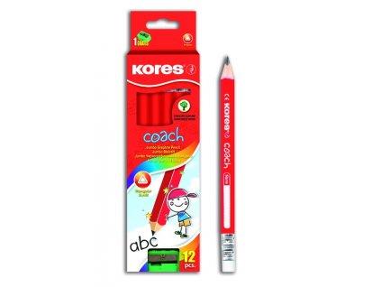 Trojhranná tužka Kores Jumbo Coach 3/4 délka č.2 (HB)