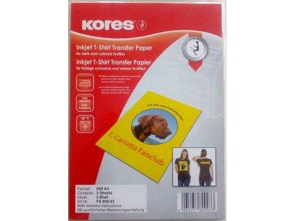 Nažehlovací papír na tričko pro tmavé oblečení - A4