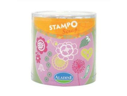 StampoScrap, kytičky a ornamenty, 34 ks