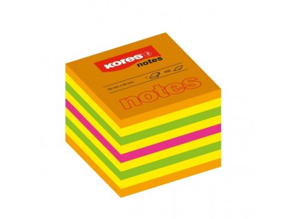 Lepicí bloček Kores Cubo Summer 50x50mm 400 lístků mix barev