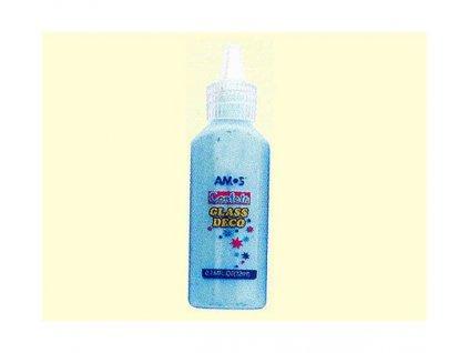 Slupovací barvy na sklo 22 ml - modrá s konfetami