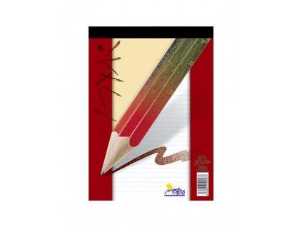 Blok šitý A6 Notes 80 listů - linkovaný