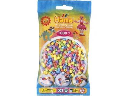 Hama zažehlovací korálky  Hama mix 1000ks MIDI - pastelové barvy