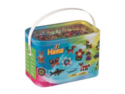 Zažehlovací korálky v boxu Mix - 10.000 ks - Midi