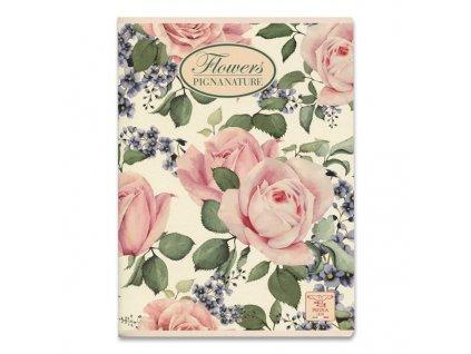 Školní sešit Pigna Nature Flowers - A5, linkovaný, 40 listů