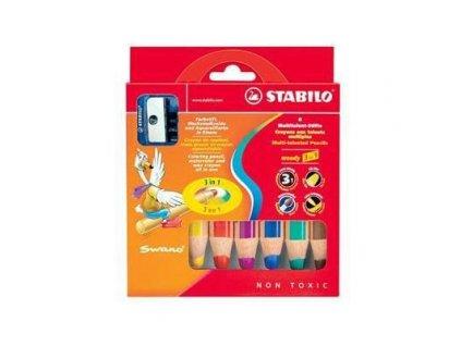 Pastelka Stabilo Woody 3 in 1 -6 barev
