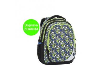 Školní batoh klučičí Bagmaster MAXVELL 6 B GREY/GREEN/BLUE