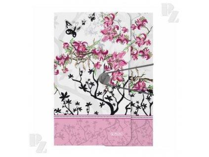 Spisové desky Herlitz  A4 s gumou  Ladylike květ