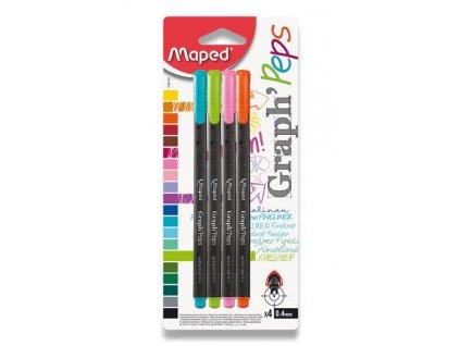 Liner Maped Graph'Peps - sada 4 pastelových barev