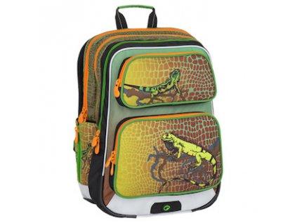 skolni batoh pro prvnacky bagmaster klucici galaxy 7 e green orange 87596 0
