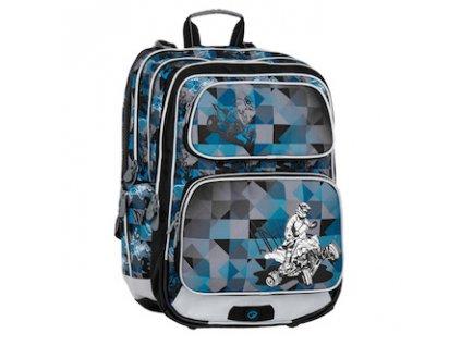 skolni batoh pro prvnacky bagmaster klucici galaxy 7 f blue black grey 87597 0