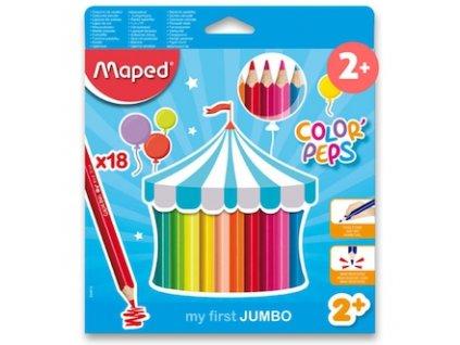 pastelky maped color peps jumbo 18 barev trojhranne 87742 0