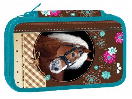 Školní penál dvoupatrový Sweet Horse