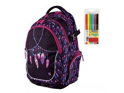 Školní batoh pro holky Stil Indian Summer  + DÁREK ZDARMA - Fixy Centropen 6 barev, Doprava Zdarma