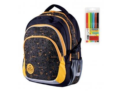 Školní batoh Stil teen Crazy  + DÁREK ZDARMA - Fixy Centropen 6 barev