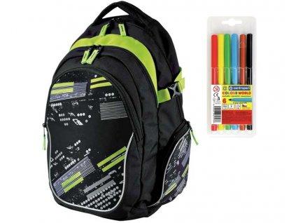 Školní batoh Stil teen Subway  + DÁREK ZDARMA - Fixy Centropen 6 barev