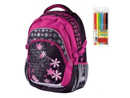 Školní batoh pro holky Stil teen Romance  + DÁREK ZDARMA - Fixy Centropen 6 barev,