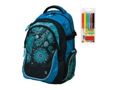 Školní batoh pro holky Stil teen Harmony  + DÁREK ZDARMA - Fixy Centropen 6 barev