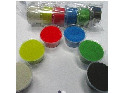 Sada barevných písků 6 barev -  č.9