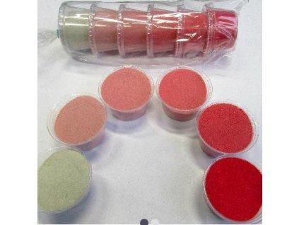 Sada barevných písků 6 barev -  č.4 - červená