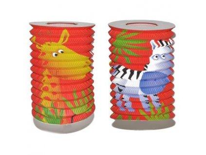 Dětský lampion válec Wiky - 15 cm  zvířata