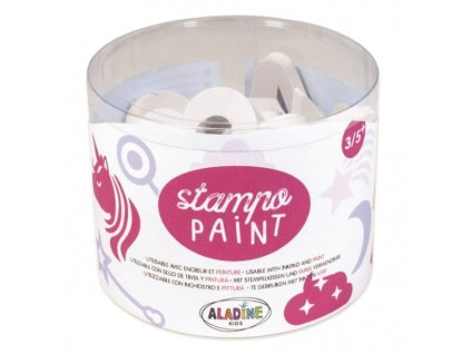 stampopaint malovaci penova razitka jednorozci