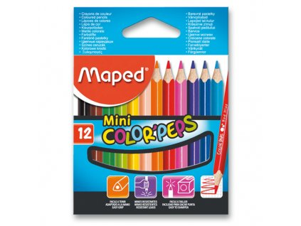 Pastelky Maped Color´Peps Mini, 12 barev
